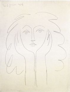 Drawing of Francoise Gilot by Picasso