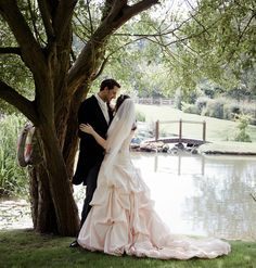 Romantic waterside wedding image