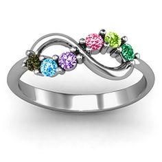 Split Infinity Ring | Mothers Ring