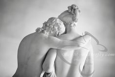 Cupid and Psyche Sculpture from the Louvre Paris