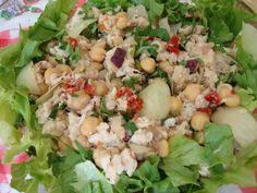 Salada de Peixe com Grão-de-Bico - Tomando uma Chávena de Chá