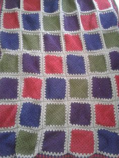 patchwork crochet afghan- no pattern