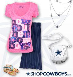 The Dallas Cowboys Ainsley Burnout V-Neck T-Shirt