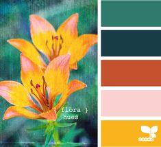 interior painting, color palettes, color combo, bathroom colors, design seeds, color schemes, burnt orange, painting colors, flora hue