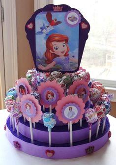 Sofia The First Birthday Party Centerpiece w Lollipops Ready to SHIP New Sophia   eBay