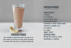 GIN SMOOTHIE! AWSOME fit, protein power, power smoothi, smoothi recip, food, drink, protein shake, healthi, yummi