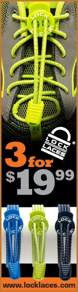 Never Tie Your Shoes Again with Shoelaces, thanks to LOCK LACES which come in many colors. LOCK LACES™, patented elastic lacing system, benefits runners and triathletes. LOCK LACES™ easy to use bungee-style cord provides stretch-fit comfort and locked-in safety. Improve your transition times and the performance of your shoes with LOCK LACES™.  Learn more $7.99