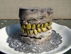 dentist, halloween decorations, halloween parties, zombi teeth, garag, zombi zombi, zombies, teeth specimen, birthday cakes