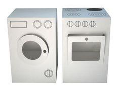 Cardboard Washing Machine & Stove by  Nume