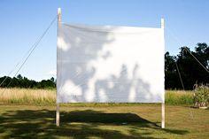 idea, parties, outdoor movie party, movi night, screens, movie nights, diy, backyards, movi screen
