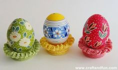 Crochet- easter decorations - free tutorial