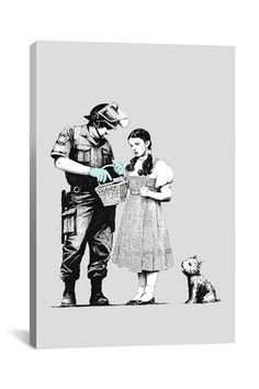 Street Art: Dorothy Police Search 12in x 18in Canvas Print