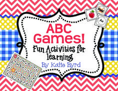 ABC Games! Fun Activities for Learning the Alphabet- A great set of games and activities.  Lots of center ideas in this fun little resource. $