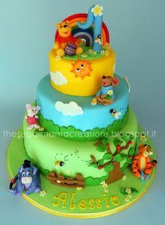 Winnie & C. cake By mamadu on CakeCentral.com