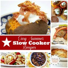 Easy Summer Crock Pot recipes. Ditch the heat and try some of the best fool-proof recipes sure to please even your pickiest eaters. www.skiptomylou.org