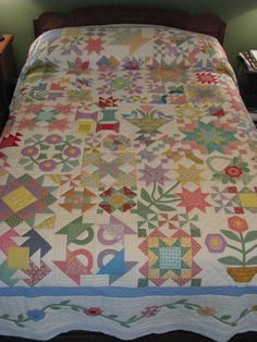 1930's Reproduction Prints Sampler Quilt