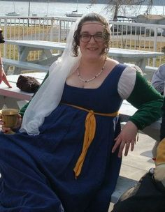 One of my dear SCA friends looking stunning in an Italian Ren