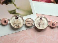 Jane Austen AUSTEN ADDICT Silver Bracelet Charm