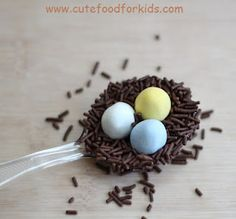Chocolate birds nest for Easter!
