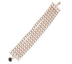 Bronzo Italia 8 Multi-Strand Curb Link Bracelet #OCRFSuperSaturday