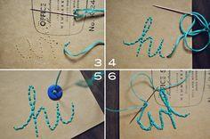 Stitching your handwriting.