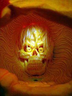 Pumpkin Carving - Amazing Work of Art by Ray Villafane