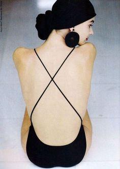 Paulina Porizkova by Arthur Elgort for Anne Klein & Co, 1988.