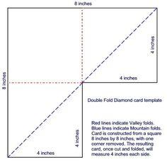 Double fold diamond card
