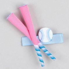 Softball Hair Bow