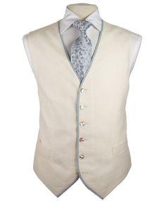 Waistcoat Ivory / Blue