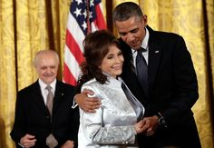 Loretta Lynn Receives Presidential Medal of Freedom