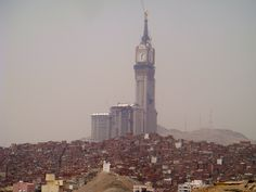 The third tallest building in the world, the Abraj Al Bait in Mecca, Saudi Arabia, pictured here under construction in March 2011