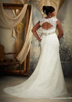 My heart might've just skipped a beat! GORGEOUS! | Wonderful Mori Lee Julietta 3131 Plus Size Lace Wedding Dress | Plus Size Wedding Dresses