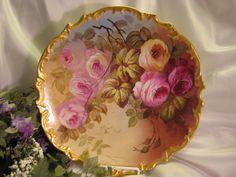 Rose china plate