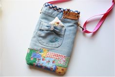 Upcycled jean crossbody bag