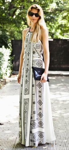 Printed maxi dress... So obsessed with maxis lately. this is great