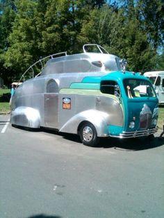 Vintage Airstream motorhome