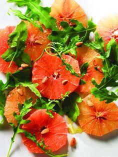 Receta de Ensalada de Arúgula Toronja y Aderezo de Maple