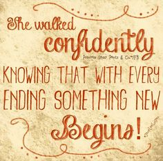 Something new begins quote and illustration via www.Facebook.com/PrincessSassyPantsCo