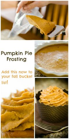Pumpkin Pie Frosting - from Cupcake Project