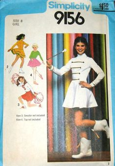 Lori Loughlin as a majorette on the cover of a Simplicity pattern. |