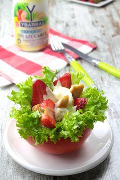 ensalada de pollo y fresa