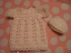 Preemie Angel Dress and Hat free crochet pattern