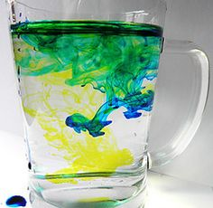 bring food coloring, have a quick color theory lesson with your water glasses