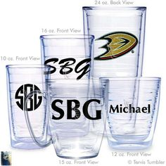 Anaheim Ducks Personalized Tervis Tumblers