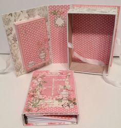 annes papercreations: G45 Botanical Tea shadow book box with a recipe album inside