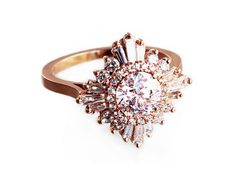 Stunning Diamond Ring  the Gatsby Ring  Art by HeidiGibsonDesigns #goals