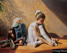 Denim to Lace by Greg Olsen