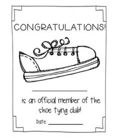 Shoe Tying Awards - I hate tying shoes!
