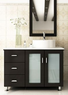 This beautiful modern vanity is a wonderful example of modern simplicity and sophistication.